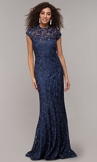 fc486c6a6fe Mother-of-the-Bride Glitter Lace Long Dress