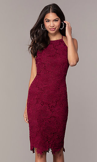Floral-Lace Wedding-Guest Party Dress by Simply