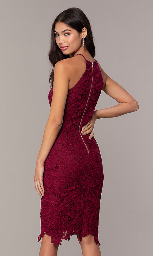 Image of floral-lace wedding-guest party dress by Simply. Style: JTM-SD-JMD6353 Back Image