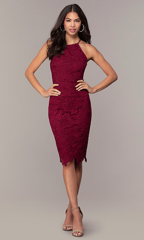 Image of floral-lace wedding-guest party dress by Simply. Style: JTM-SD-JMD6353 Detail Image 3