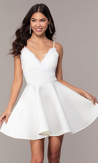 White Formal Gowns, White Graduation Party Dresses