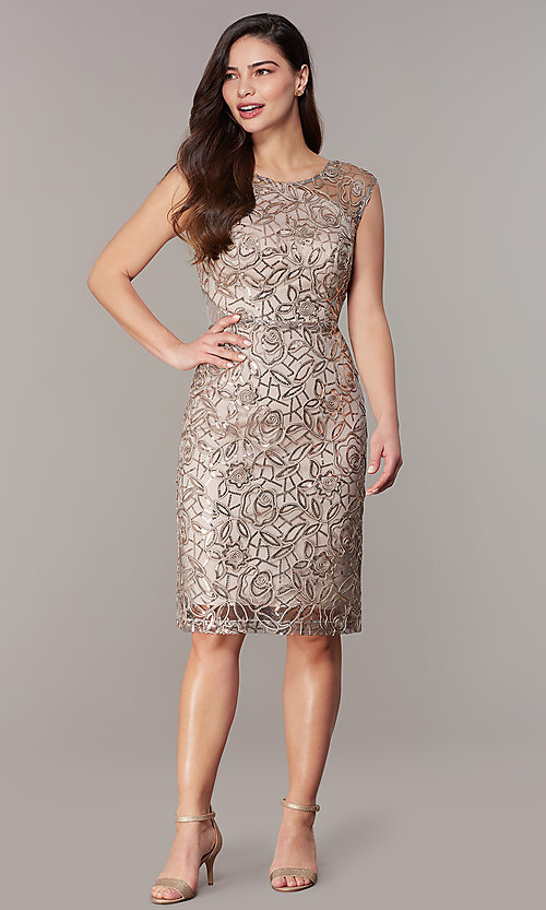 cf7155daf13 Mother-of-the-Bride Knee-Length Party Dress