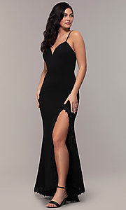 Image of long sweetheart black formal dress by Simply. Style: MCR-SD-2709 Detail Image 3