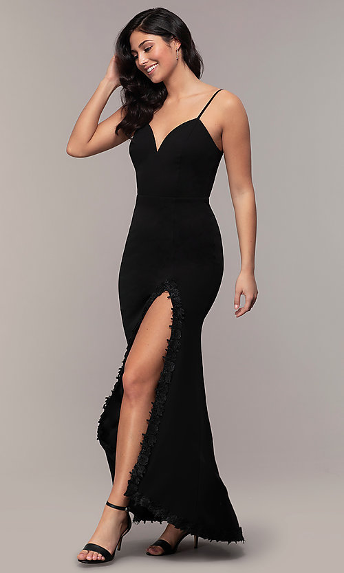 Image of long sweetheart black formal dress by Simply. Style: MCR-SD-2709 Front Image