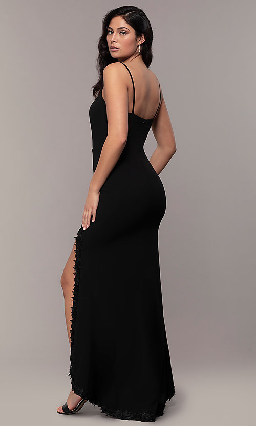 Image of long sweetheart black formal dress by Simply. Style: MCR-SD-2709 Back Image