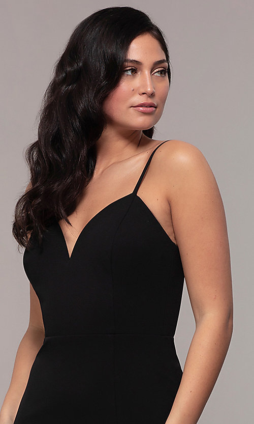 Image of long sweetheart black formal dress by Simply. Style: MCR-SD-2709 Detail Image 1