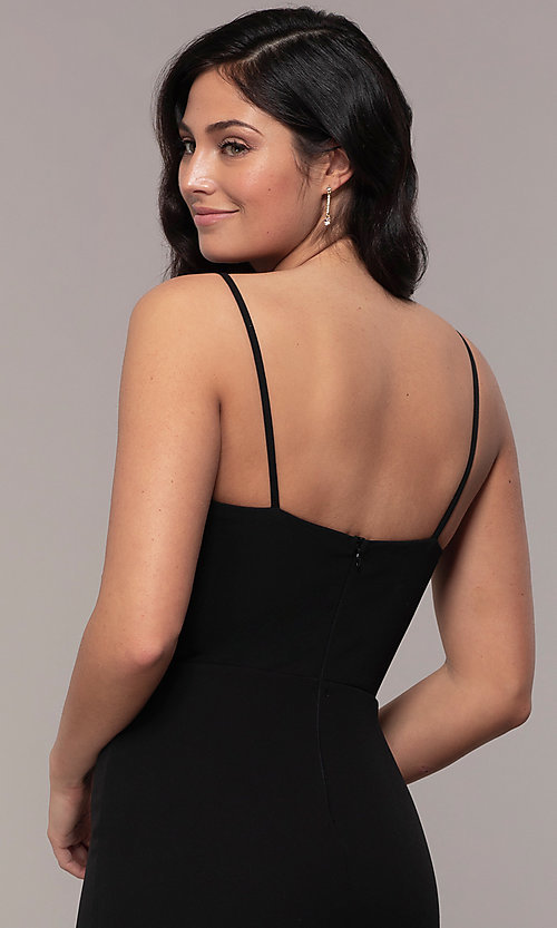 Image of long sweetheart black formal dress by Simply. Style: MCR-SD-2709 Detail Image 2