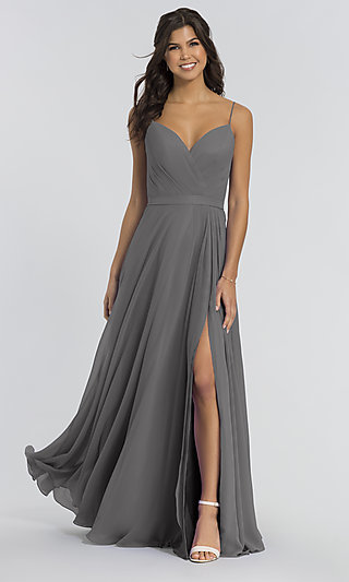 Kleinfeld Bridesmaid Long Dress with Side Slit