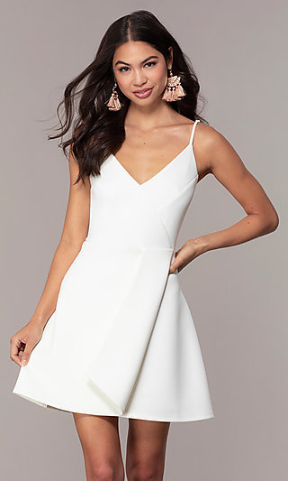 2e934622edd V-Neck Short Graduation Dress by Simply