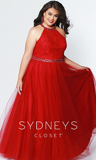 Sydney's Closet Ball Gown-Style Plus Formal Gown