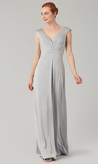 Deep-V-Back Long Bridesmaid Dress by Kleinfeld