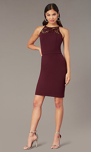 140be6911f1 Plum Purple Short Sleeveless Party Dress
