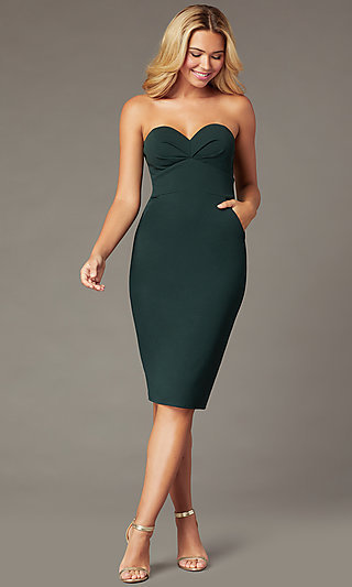 Strapless Sweetheart Short Cocktail Party Dress