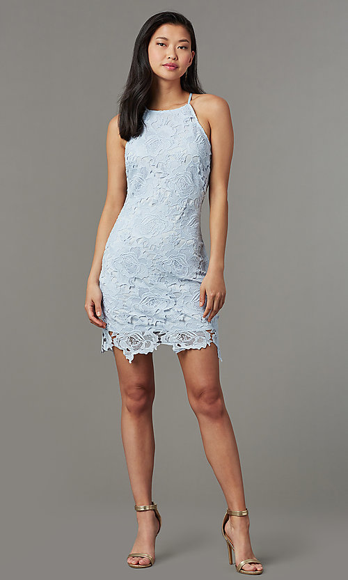 Short Lace Party Dress For Wedding Guests