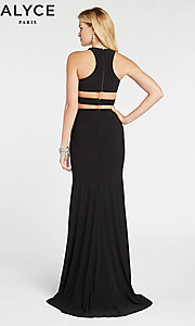 Image of Alyce two-piece long black formal prom dress. Style: AL-60284 Back Image