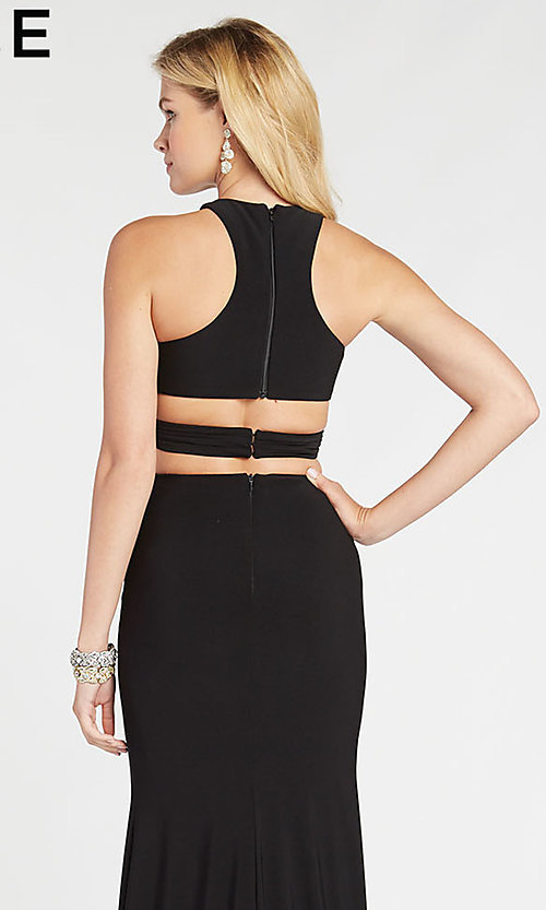 Image of Alyce two-piece long black formal prom dress. Style: AL-60284 Detail Image 2