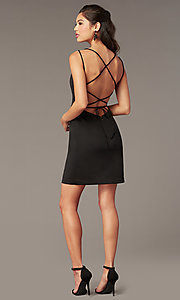 Image of Alyce short corset-back homecoming party dress. Style: AL-4090 Detail Image 6