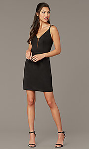 Image of Alyce short corset-back homecoming party dress. Style: AL-4090 Detail Image 5