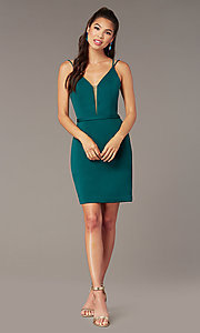 Image of Alyce short corset-back homecoming party dress. Style: AL-4090 Detail Image 2