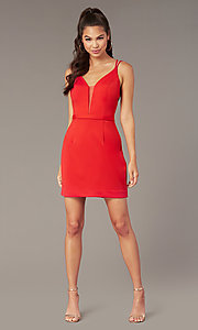 Image of Alyce short corset-back homecoming party dress. Style: AL-4090 Back Image