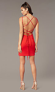 Image of Alyce short corset-back homecoming party dress. Style: AL-4090 Front Image