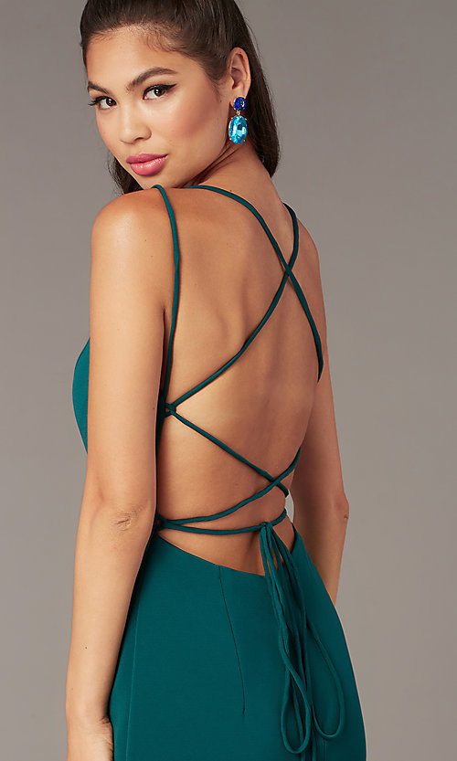 Image of Alyce short corset-back homecoming party dress. Style: AL-4090 Detail Image 4