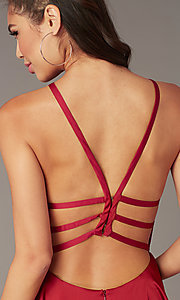 Image of Alyce short strappy-back homecoming dress. Style: AL-A4118 Detail Image 8