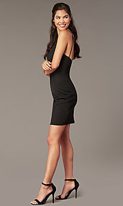 Image of Alyce glitter-knit short sheath party dress. Style: AL-A4153 Detail Image 6