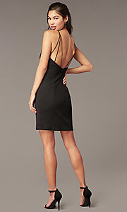 Image of Alyce glitter-knit short sheath party dress. Style: AL-A4153 Detail Image 7