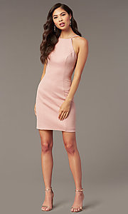 Image of Alyce glitter-knit short sheath party dress. Style: AL-A4153 Detail Image 4