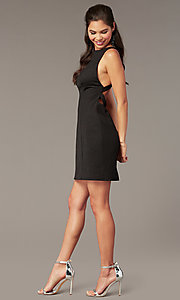 Image of high-neck short formal party dress for homecoming. Style: AL-A4160 Detail Image 2