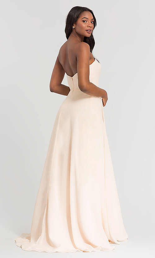 Image of Kleinfeld long removable-strap bridesmaid dress. Style: KL-200009-v Back Image