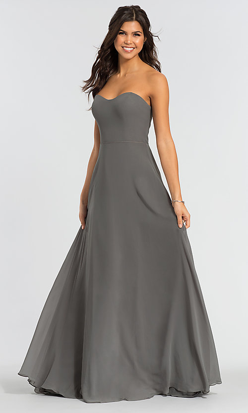 Image of Kleinfeld long removable-strap bridesmaid dress. Style: KL-200009-v Detail Image 1