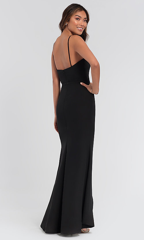 Image Kleinfeld chiffon high-low bridesmaid dress. Style: KL-200050-v Back Image