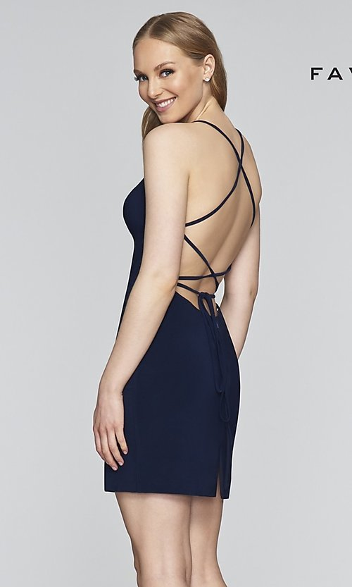 Image of Faviana short tight homecoming party dress. Style: FA-S10356 Detail Image 4