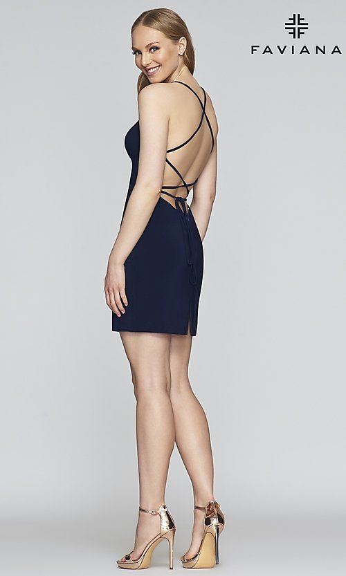 Image of Faviana short tight homecoming party dress. Style: FA-S10356 Detail Image 6