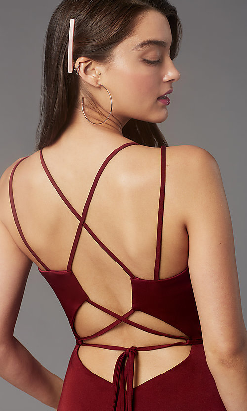 Image of Faviana corset-open-back short party dress. Style: FA-S10358 Detail Image 6