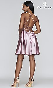 Image of a-line homecoming dress with scoop neckline. Style: FA-S10361 Detail Image 6