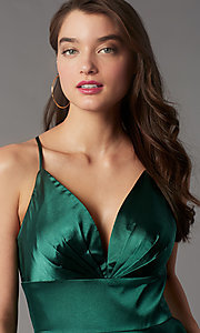 Image of short a-line open-back homecoming dress. Style: FA-S10363 Detail Image 4