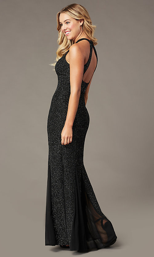 Image of long glitter mother-of-the-bride formal dress. Style: MO-21555 Detail Image 3