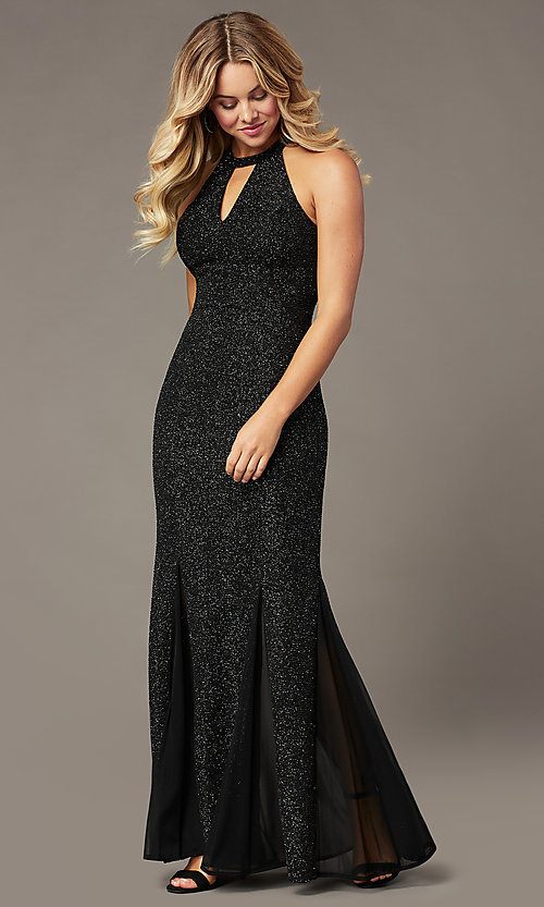 Image of long glitter mother-of-the-bride formal dress. Style: MO-21555 Detail Image 2