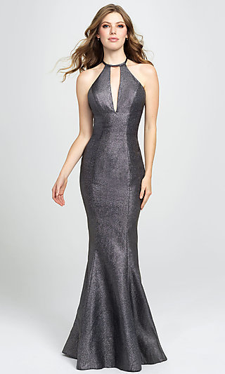 Long Glitter Formal Prom Dress with Sweep Train