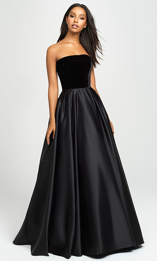 Image of strapless long formal prom dress by Madison James. Style: NM-19-155 Detail Image 4