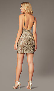 Image of JVNX by Jovani short embroidered homecoming dress. Style: JO-JVNX2201 Back Image