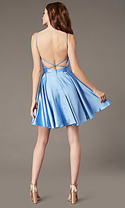 Image of JVNX by Jovani short square-neck party dress. Style: JO-JVNX2274 Back Image