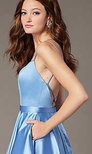 Image of JVNX by Jovani short square-neck party dress. Style: JO-JVNX2274 Detail Image 2