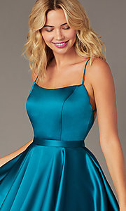 Image of JVNX by Jovani short square-neck party dress. Style: JO-JVNX2274 Detail Image 6