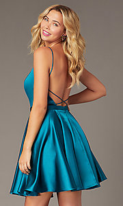 Image of JVNX by Jovani short square-neck party dress. Style: JO-JVNX2274 Detail Image 4