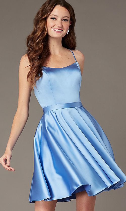 Image of JVNX by Jovani short square-neck party dress. Style: JO-JVNX2274 Detail Image 1