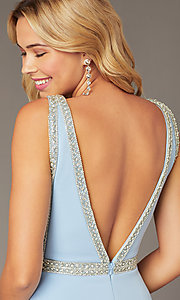 Image of JVNX by Jovani light blue homecoming short dress. Style: JO-JVNX2272 Detail Image 2